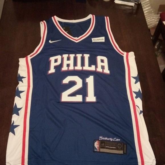 new style 93e7d e0a35 NWT Joel Embiid Philadelphia Sixers Jersey NWT